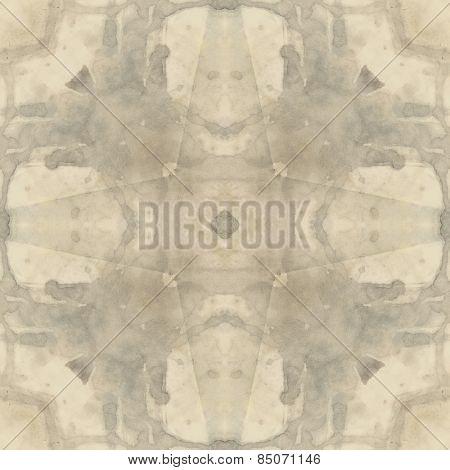 art nouveau ornamental vintage  pattern, S.12, monochrome watercolor background in pastel beige and grey colors