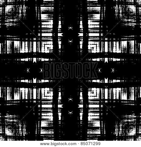 art sketched naive ornamental black pattern isolated on white background, s.9