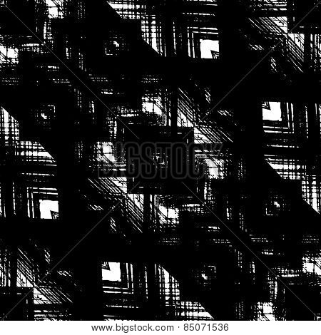 art sketched naive ornamental black pattern isolated on white background, s.2