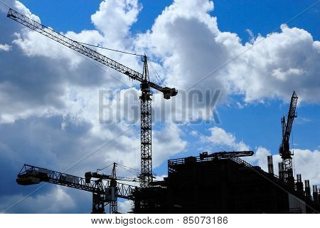 Construction Site With A Few Cranes
