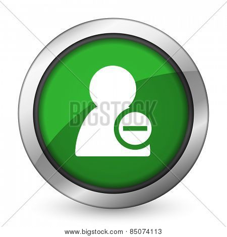 remove contact green icon