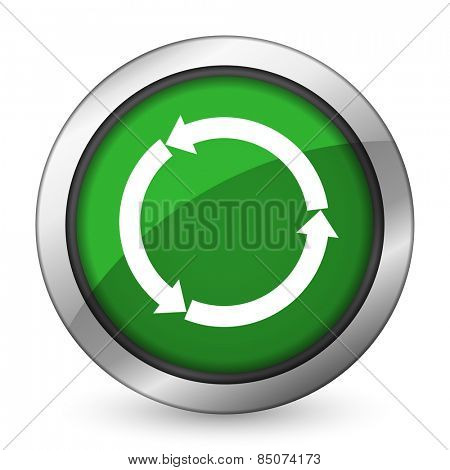 refresh green icon reload green icon