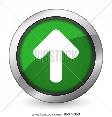 up arrow green icon arrow sign