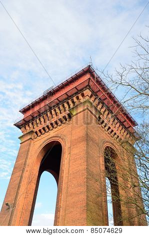 Looking upward at Victorian Water Tower