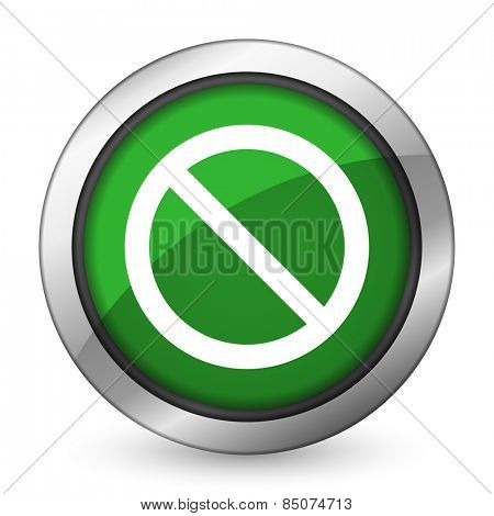 access denied green icon