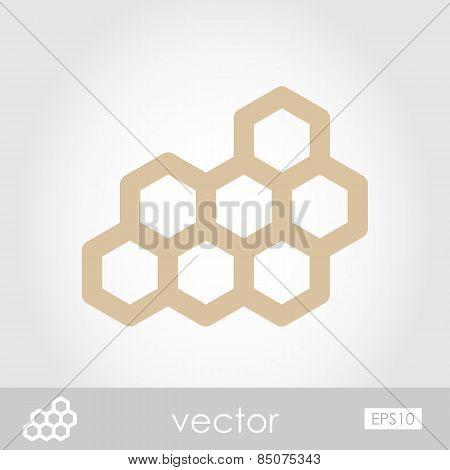 Honeycomb Bee Vector Icon