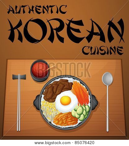 Authentic korean cuisine