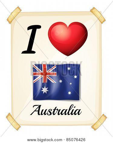 I love Australia banner