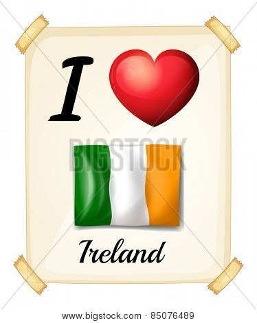 I love Ireland sign posted on the wall