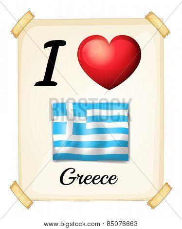 I love Greece sign