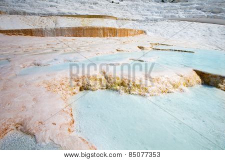 Pamukkale travertines near Denizli in Turkey