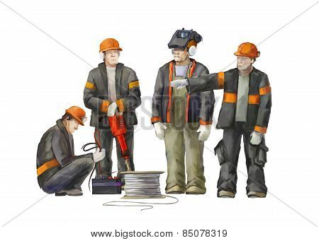 Welder, electrician, jack hammer, deputy manage, arkhitect and project manager.