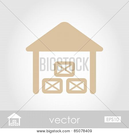 Shed Vector Icon