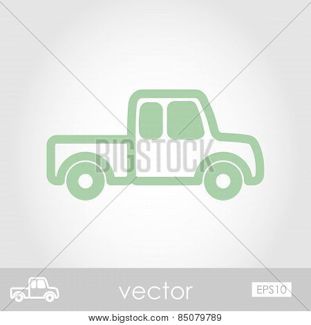 Pickup Truck  Vector Icon
