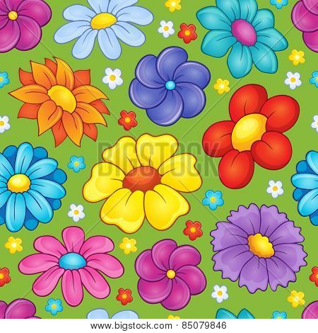 Seamless background flower theme 3 - eps10 vector illustration.