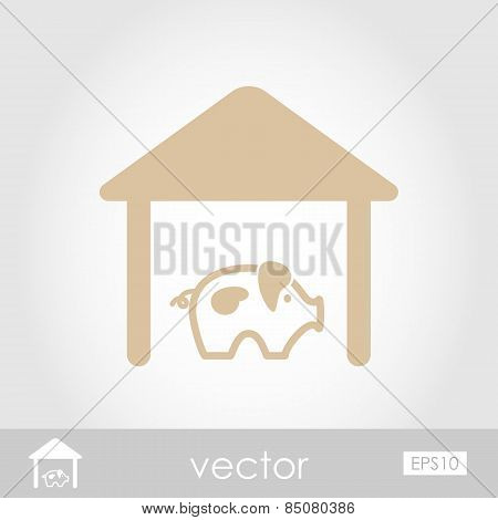 Pigsty Vector Icon