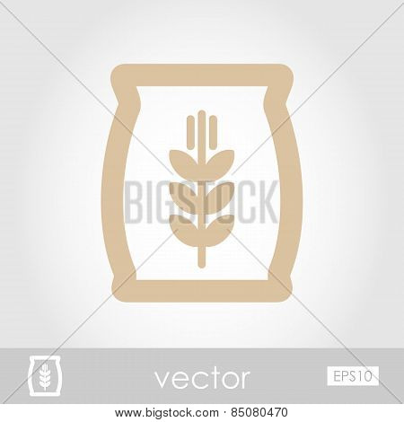Sack Of Grain Vector Icon