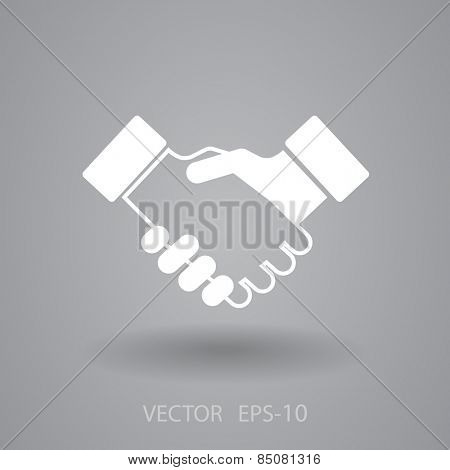 Flat  icon of handshake