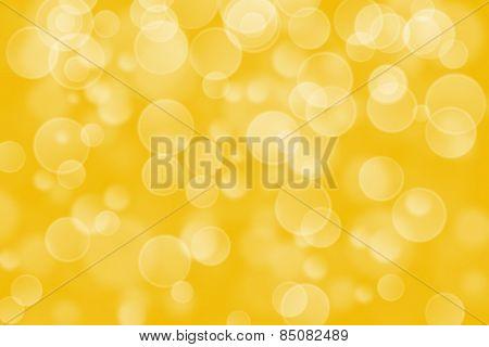 yellow circle shape boke background