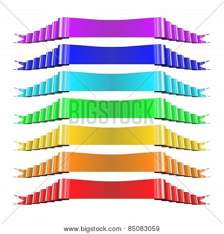 Set of Multicolored Ribbons