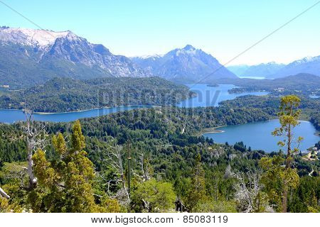 Overview of Nahuel Huapi national park and Lake - Argentina