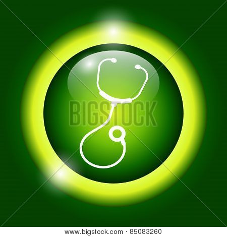 Medical Design Over Green Background Vector Illustration