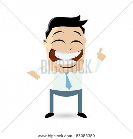 funny businessman pointing with finger