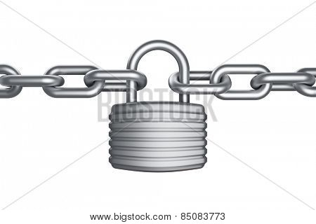 Secure lock and chain