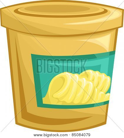 Illustration of a Tightly Sealed Tub of Margarine