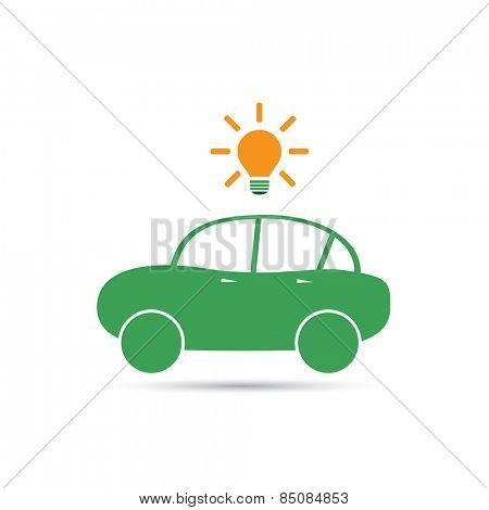 Electric Car Icon Design