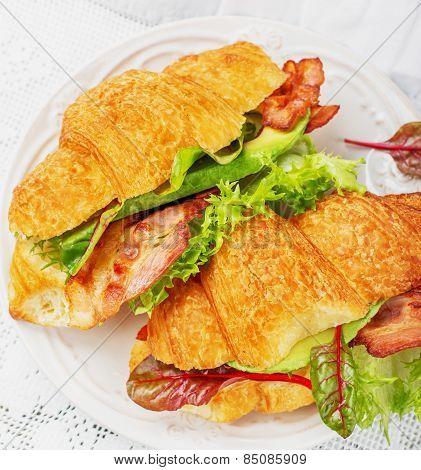 Croissants sandwiches