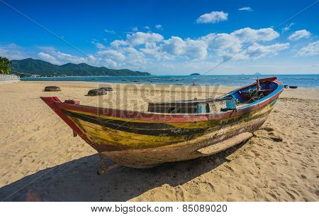 Fishing Boats In Marina At Vietnam