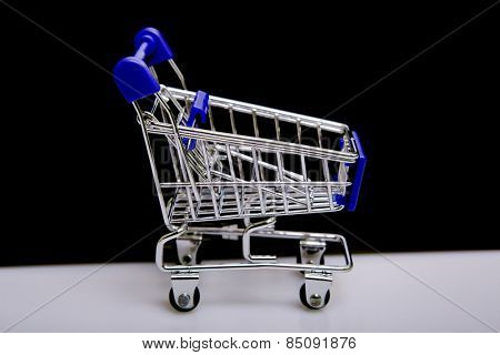 small shopping cart, studio picture