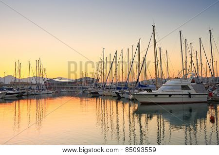 Kallithea marina in Athens.