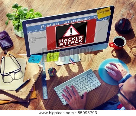Hacker Attack Browsing Internet Technology Wireless Concept