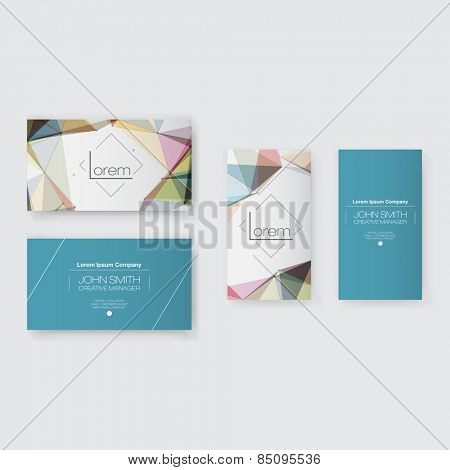 Abstract Business Card Template Set | Modern Vector Design