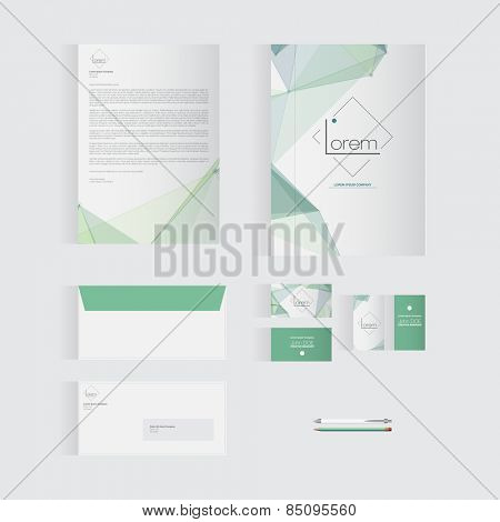 Green Stationery Template Design for Your Business | Modern Vector Design