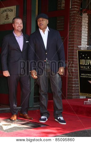 LOS ANGELES - MAR 5:  Chris O'Donnell, LL Cool J, James Todd Smith at the Chris O'Donnell Hollywood Walk of Fame Star Ceremony at the Hollywood Blvd on March 5, 2015 in Los Angeles, CA