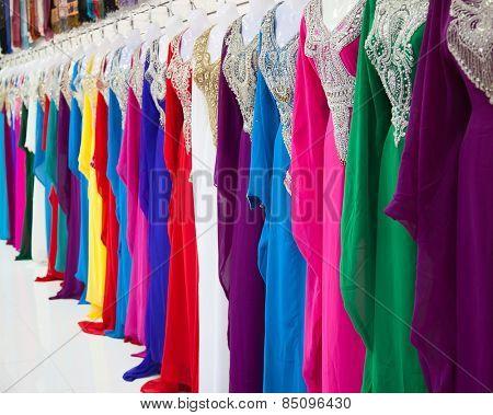 Textile souk (market) in Dubai, United Arab Emirates