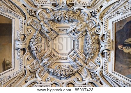 SALZBURG, AUSTRIA - DECEMBER 13: Fragment of the dome of Salzburg Cathedral on December 13, 2014 in Salzburg, Austria.Salzburg Cathedral is renowned for its harmonious Baroque architecture.