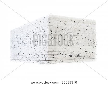 Pack of insulation styrofoam panels with graphite additive