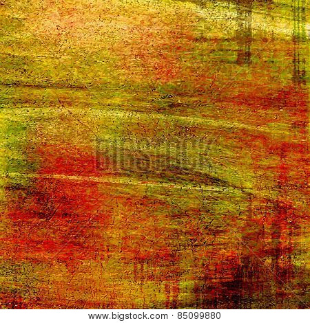 Old and weathered grunge texture. With different color patterns: yellow (beige); brown; red (orange); green