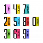 stock photo of numbers counting  - Bright numbers set - JPG