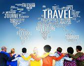 picture of globalization  - Travel Explore Global Destination Trip Adventure Concept - JPG