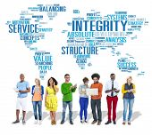 image of honesty  - Integrity Honesty Sincerity Trust Reliability Concept - JPG