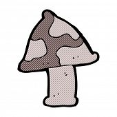 picture of toadstools  - retro comic book style cartoon toadstool - JPG