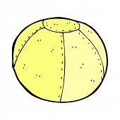 image of stitches  - retro comic book style cartoon stitched football - JPG