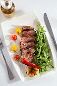 picture of rocket salad  - Roast Beef with Vegetables and Rocket Salad - JPG