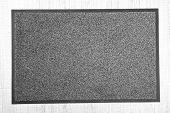 stock photo of carpet  - Grey carpet on floor close - JPG