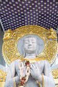 picture of jade  - The Buddha carved White jade in the temple - JPG